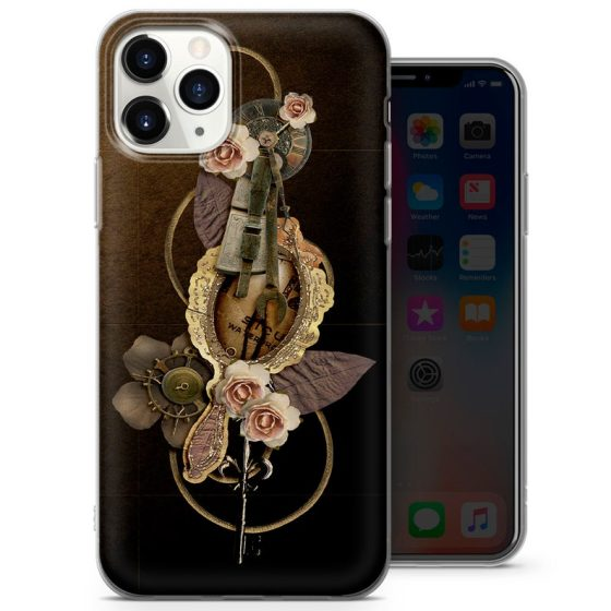 Gothic Steampunk iPhone 13 & 13pro Case. Also available for iphone 12, 11, XR, XS, 8 & 7. Created by S T Cover.