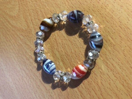 Bracelet en perle de verre