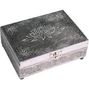 coffret décoratif argenté