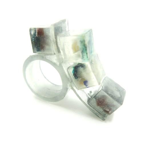Grey Quad Vegetable Peel Ring