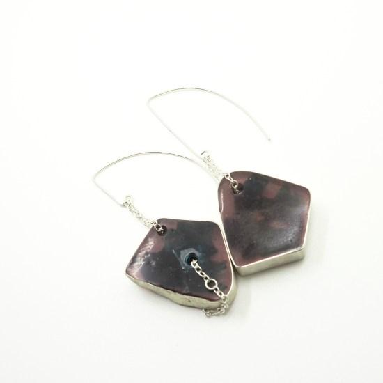 Behring Earrings – Purple