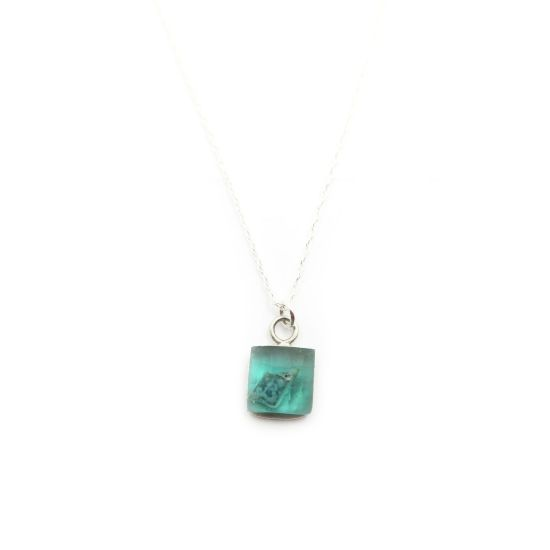 Bethe Silver Necklace – Green