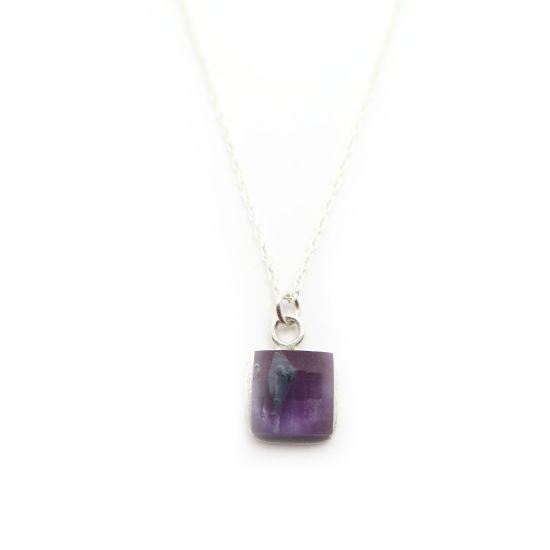 Bethe Silver Necklace – Purple
