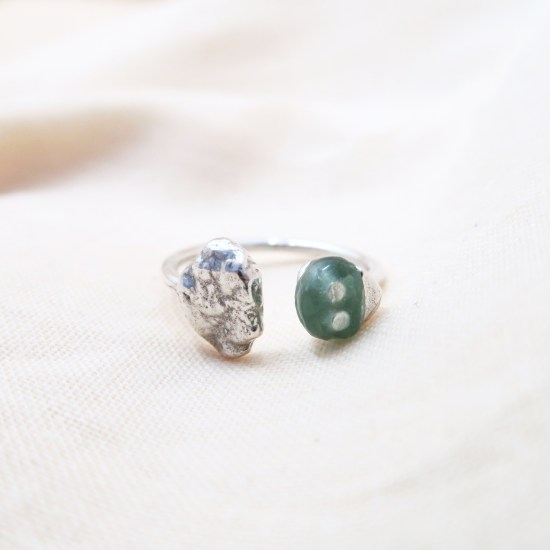 Quimby Ring – Emerald/Silver