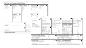 alternative Business Model Canvas templates adding sustainability aspects into the overview. Found at https://rethinkbusiness.dk/ and https://www.case-ka.eu/wp/wp-content/uploads/2017/05/SustainableBusinessModelCanvas_highresolution.jp