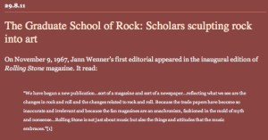 REBLOGGED: The Graduate School of Rock: Scholars sculpting rock into art