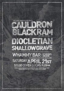 CAULDRON BLACK RAM inaugural NZ show this April