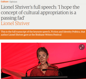 Lionel Shriver was right: Unpacking her speech at Brisbane Writers Festival 2016