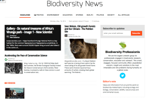 screenshot of paperli application biodiversity newspaper