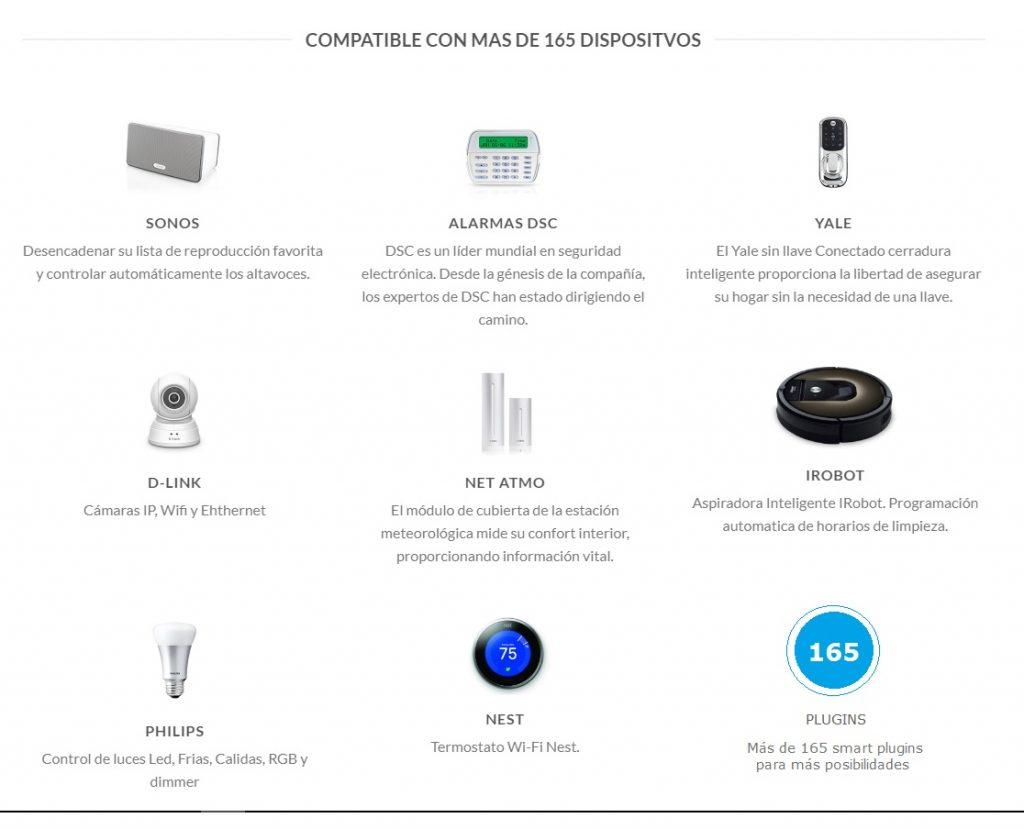 El software FIBARO tiene integración con múltiples dispositivos inteligentes