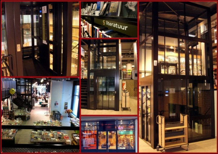 Bookstore collage