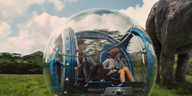 Jurassic World still gyrosphere