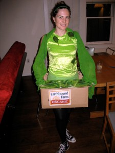 This costume is scarier than the Tomato Guy!