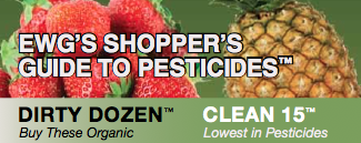 EWG Shopper's Guide to Pesticides Dirty Dozen Clean Fifteen