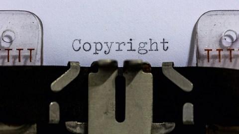 copyright and fair use typewriter