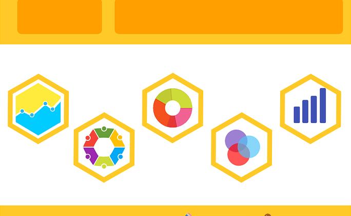 infographic computer image statistics orange