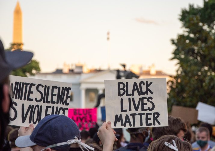 Image of Black Lives Matter Protest in Washington, DC, 5/31/2020. By Koshu Kunii via Unsplash. #ShutDownSTEM #ShutDownAcademia