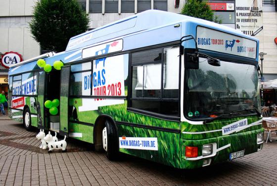 biogas tour bus