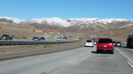 traffic along I5 Gorman