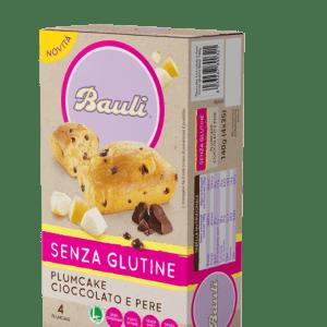 Plumcake pere e cioccolato bauli senza glutine e senza lattosio
