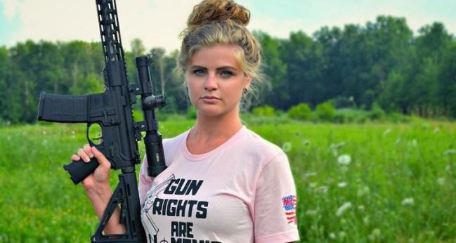 Kaitlin Bennett holding a gun - Bio gossipy