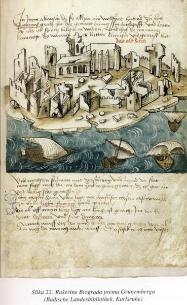 Sadržaj rukopisnog izvješća iz godine 1125. o rušenju Biograda, sačuvanog u mletačkim arhivima