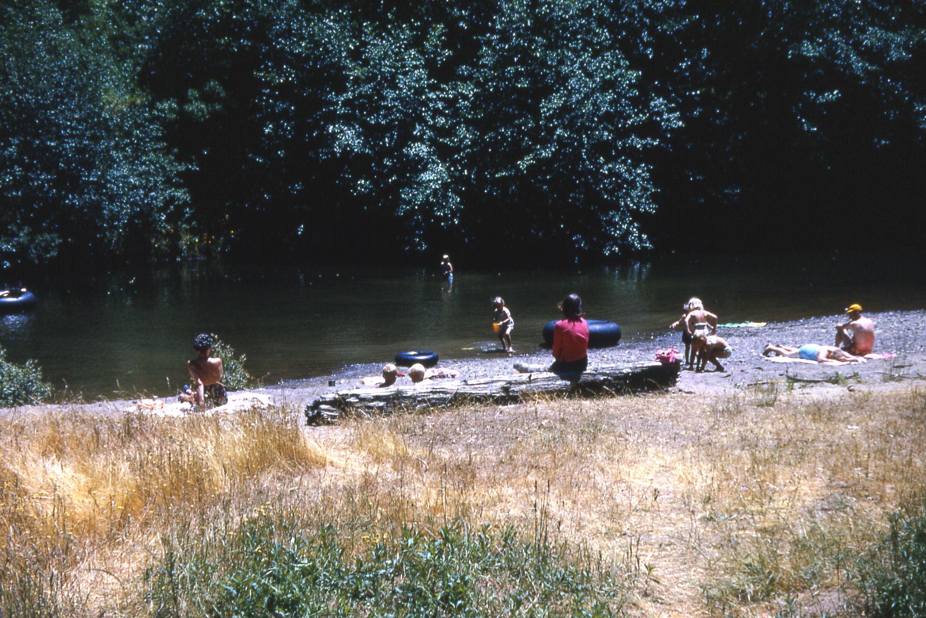 Camp at river
