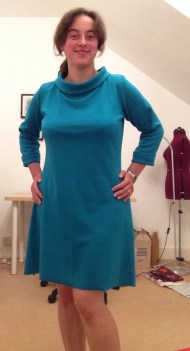 15: Coco dress with funnel neck