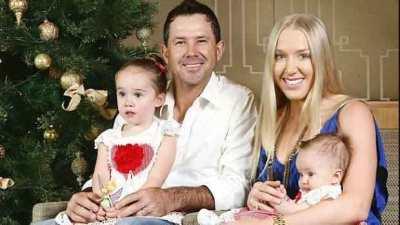 Ricky-Ponting-Family