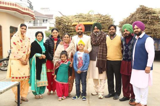 Ammy Virk with Laung Laachi Cast