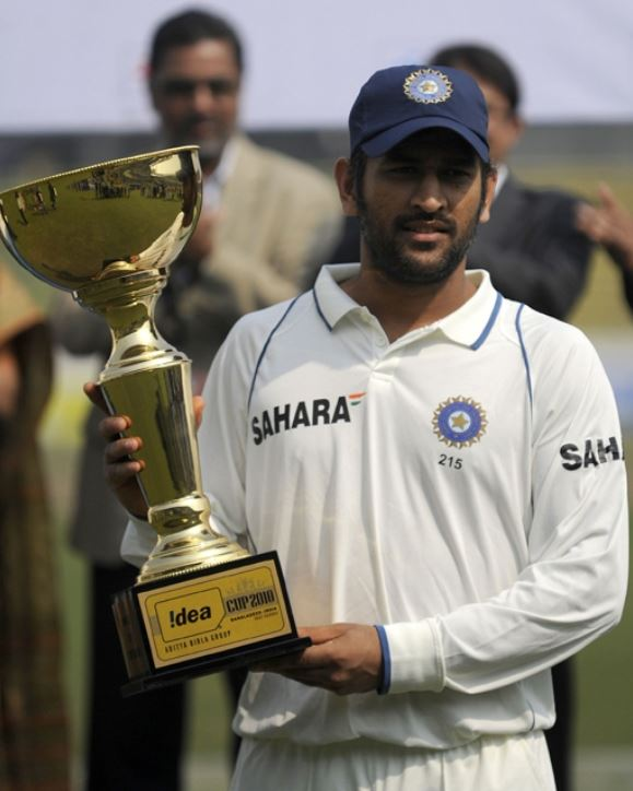 Dhoni in test match
