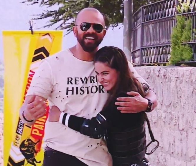 Hina with Rohit Shetty