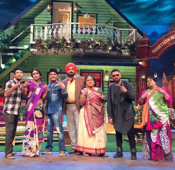 Honey Singh in The Kapil Sharma show and team