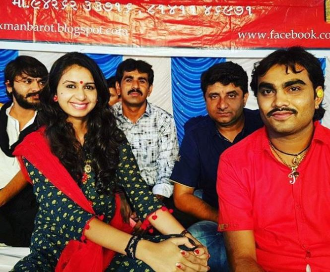 Jignesh Kaviraj with Kinjal Dave