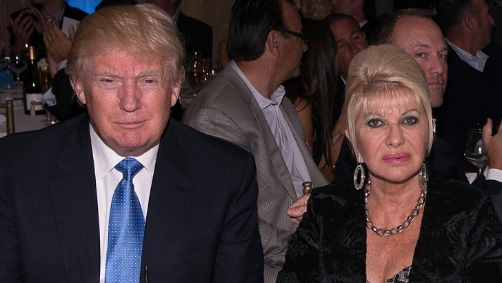 Donald Trump with his ex-wife Ivana Trump. Ivana Trump accused Donald Trump against marital rape but later settled with him and took a divorce.