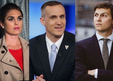 Hope Hicks, Corey Lewandowski and Jared Kushner