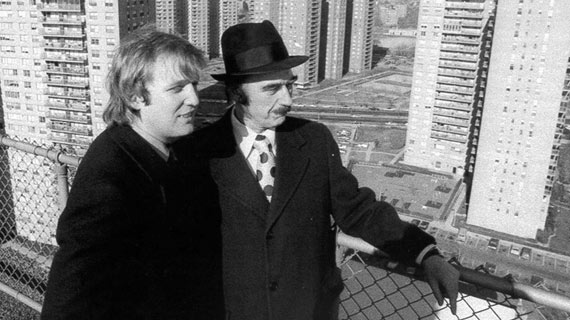 Memory: Young Donald Trump and his Father Fred Trump watching city from building.