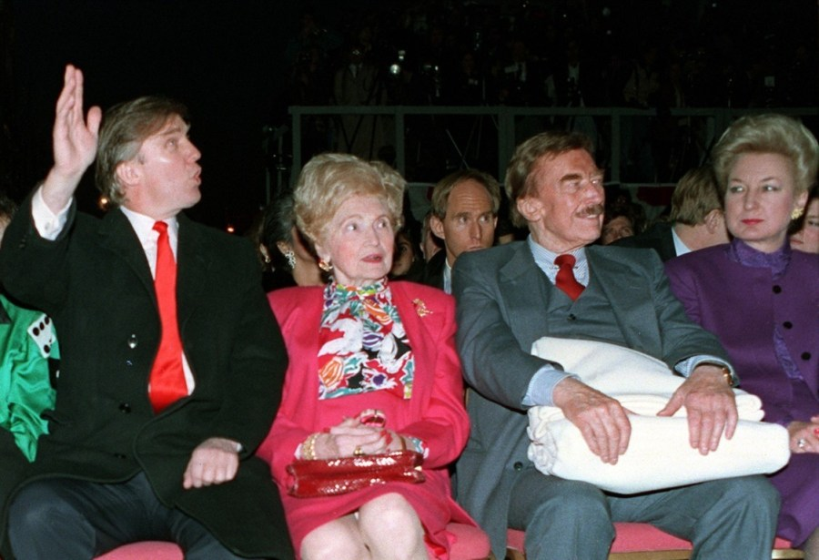 Donald Trump with his Mother Mary Anne Macleod Trump, Father Fred Trump and eldest sister Maryanne Trump.