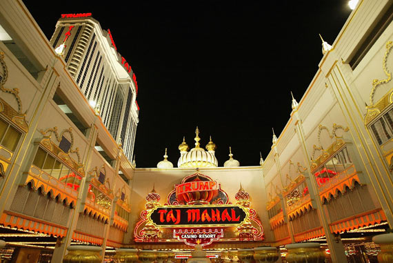 Trump's Taj Mahal Casino which was once the largest casino in Atlantic City.