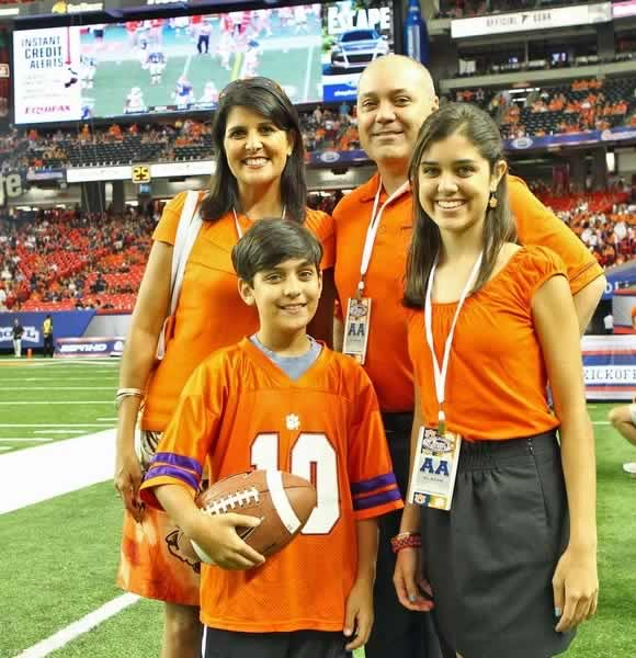 Nikki Haley with her husband and children.