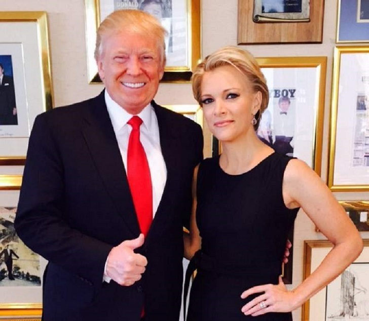 Megyn Kelly along with Donald Trump. Kelly is considered as one of the arch rivals of Trump in the media.