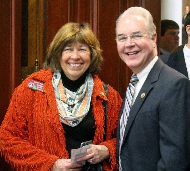 Tom Price with his wife Betty Price.