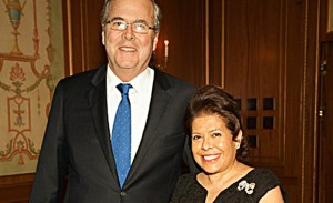 Jeb Bush with his wife.