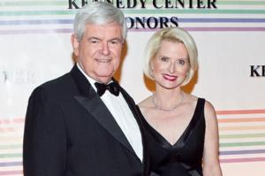 Newt with his wife.