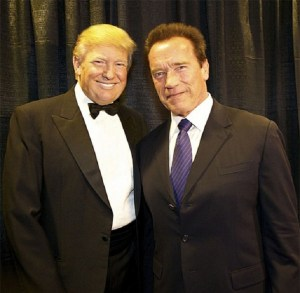President of United States Donald Trump with Arnold Schwarzenegger.