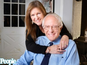 Bernie Sanders with his wife.