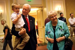 Orin Hatch with his wife.