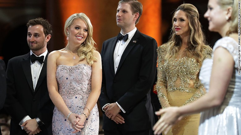 Lara Trump along with other Trump family members. She is accompanied by Tiffany Trump and alleged boyfriend Ross Mechanic.