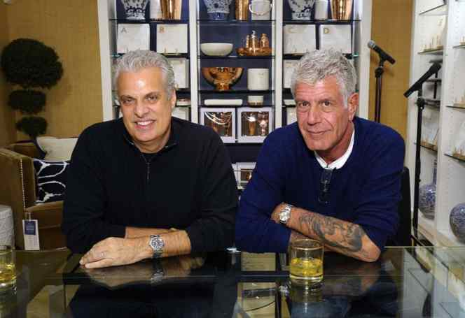 Anthony Bourdain with his close friend Eric Ripert