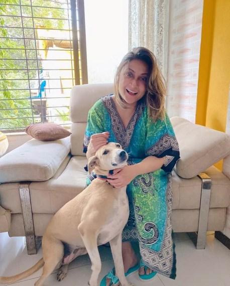 Urvashi Dholakia dog